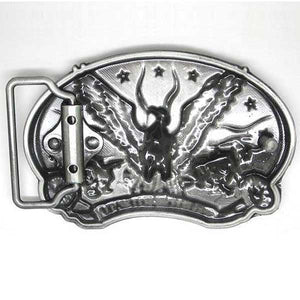 "Live To Ride ""Eagle Biker"" Metal Belt Buckle - Blown Biker - 2"