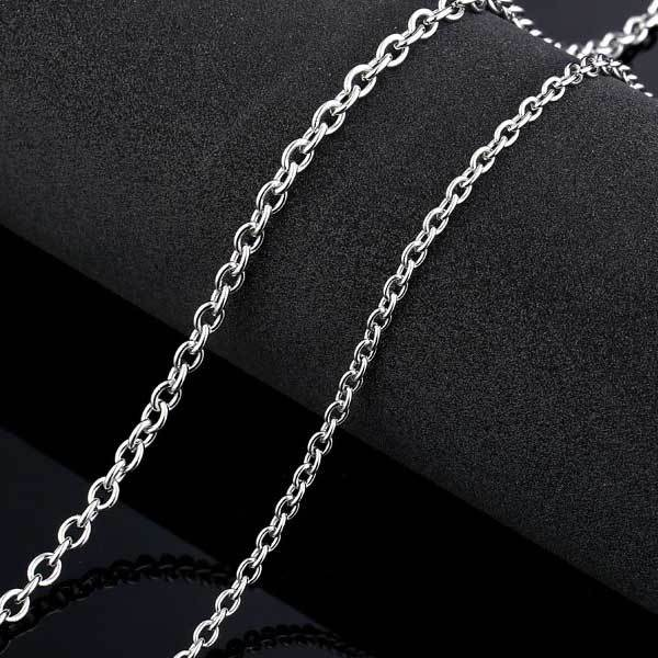 "316L Stainless Steel ""O Style"" Chain Necklace - Blown Biker - 1"