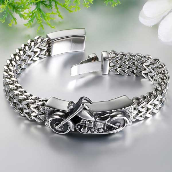 "316L Stainless Steel ""Biker"" Bracelet - Blown Biker - 1"