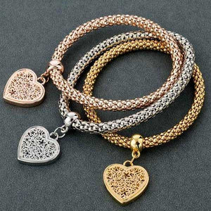 """Rhinestone Heart"" Bracelet (Buy 1 Get 2 FREE!) - Blown Biker - 1"