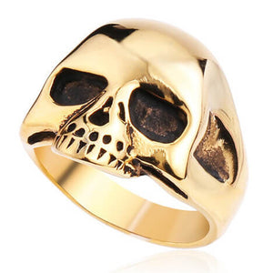 "316L Stainless Steel ""Alien Skull"" Ring"