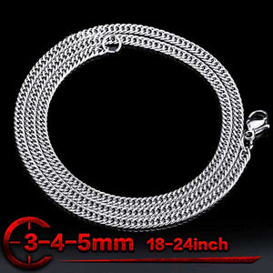 "316L Stainless Steel ""Flat Chain"" Necklace - Blown Biker - 2"