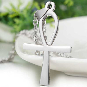 "316L Stainless Steel ""Egyptian Ankh"" Pendant Necklace - Blown Biker - 2"
