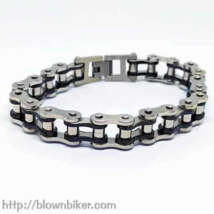 "316L Stainless Steel ""Gold Link"" Bracelet - Blown Biker - 3"