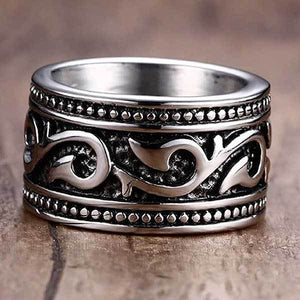 "316L Stainless Steel ""Anel Aneis Gothic"" Ring - Blown Biker - 1"