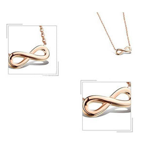 "Rose Gold ""Infinity"" Necklace - Blown Biker - 3"