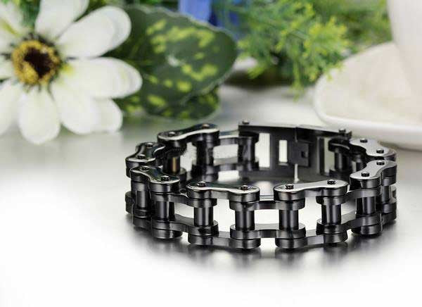 "316L Stainless Steel ""Big Black"" Bracelet - Blown Biker - 2"