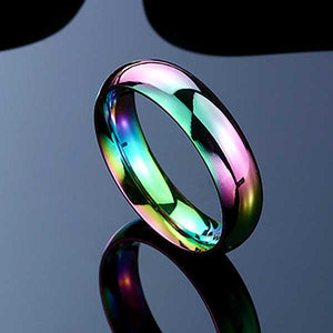 "316L Stainless Steel ""Opal Rainbow"" Ring"
