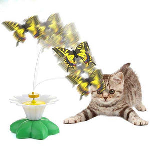 "Interactive ""Flying Butterfly"" Cat Toy - Blown Biker - 3"