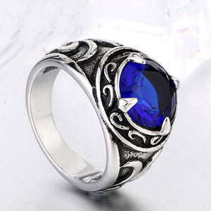"316L Stainless Steel ""Retro Stone"" Ring"