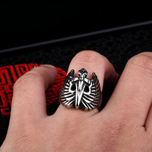 "316L Stainless Steel ""Winged Sword"" Ring"