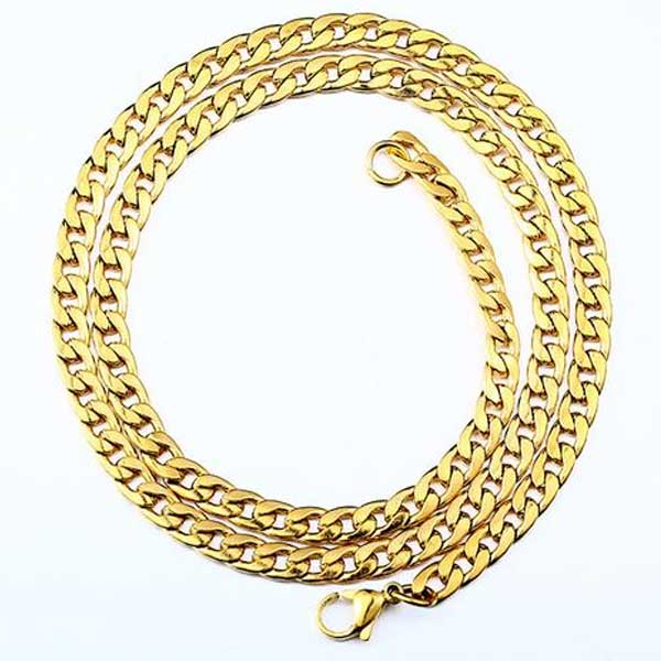 "316L Stainless Steel ""Gold Wave"" Necklace"