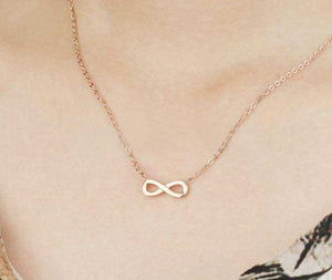 "Rose Gold ""Infinity"" Necklace - Blown Biker - 2"