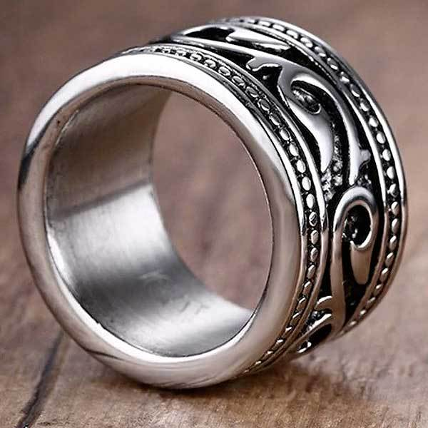 "316L Stainless Steel ""Anel Aneis Gothic"" Ring - Blown Biker - 2"