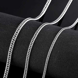 "316L Stainless Steel ""Flat Chain"" Necklace - Blown Biker - 3"