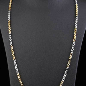 "316L Stainless Steel ""Half-Plate"" Chain Necklace - Blown Biker - 5"