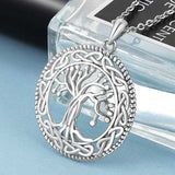 "925 Sterling Silver ""Family Tree"" Pendant Necklace - Blown Biker - 2"