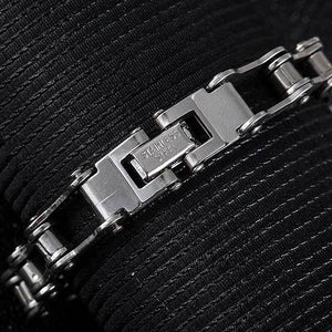 "316L Stainless Steel ""Slimline"" Biker Chain Bracelet - Blown Biker - 4"