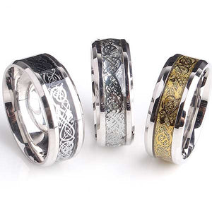 "Tungsten Steel ""Dragon"" Ring - Blown Biker - 3"