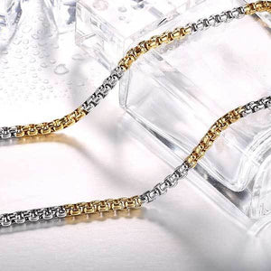 "316L Stainless Steel ""Half-Plate"" Chain Necklace - Blown Biker - 2"