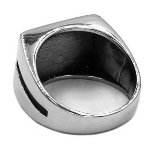 "316L Stainless Steel ""American Flag"" Ring - Blown Biker - 4"