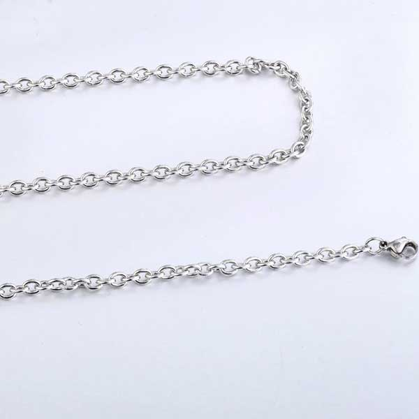 "316L Stainless Steel ""O Style"" Chain Necklace - Blown Biker - 4"