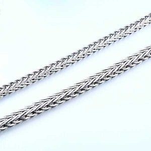 "316L Stainless Steel ""Square Twist"" Necklace"