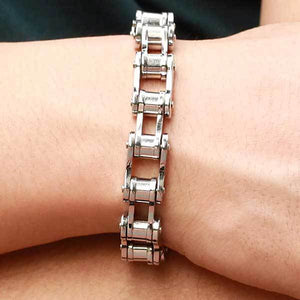 "316L Stainless Steel ""Slimline"" Biker Chain Bracelet - Blown Biker - 2"