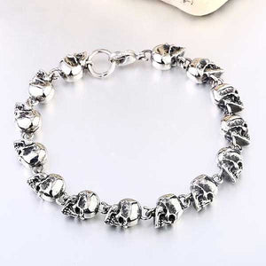 "316L Stainless Steel ""Twisted Faces"" Bracelet"