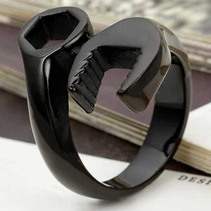 "316L Stainless Steel ""Wrench"" Ring - Blown Biker - 4"