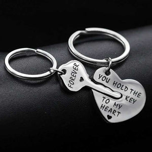"2 Piece ""You Hold The Key To My Heart Forever"" Keychain Set"
