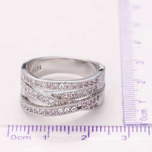 "925 Sterling Silver ""Triple Loop"" Womens Ring"
