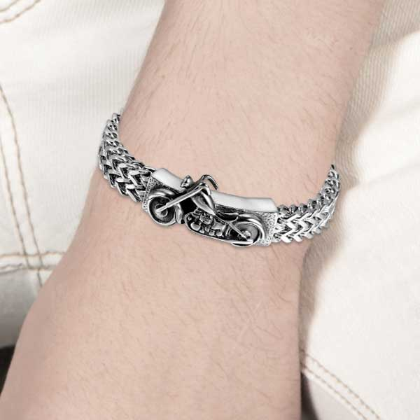 "316L Stainless Steel ""Biker"" Bracelet - Blown Biker - 3"