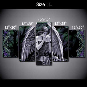 "5 Piece ""Angel Wings"" Printed Wall Canvas Set"