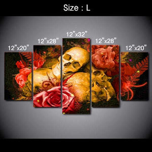 "5 Piece ""Colored Dream"" Printed Wall Canvas Set"