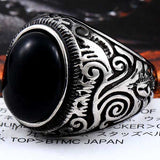 "316L Stainless Steel ""Vintage Nobel"" Ring - Blown Biker - 5"