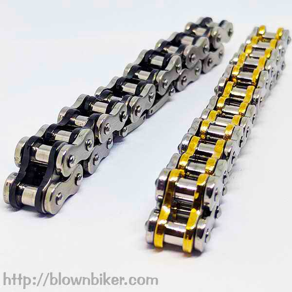 "316L Stainless Steel ""Gold Link"" Bracelet - Blown Biker - 5"