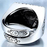 "316L Stainless Steel ""All-Seeing Eye"" Ring - Blown Biker - 5"