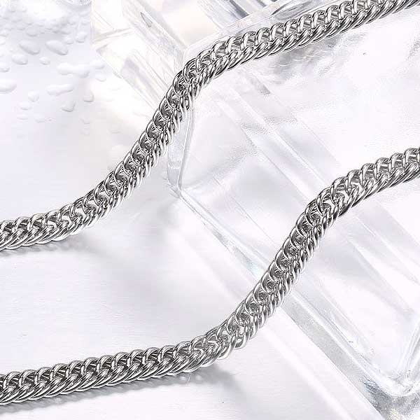 "316L Stainless Steel ""Flat Chain"" Necklace - Blown Biker - 5"