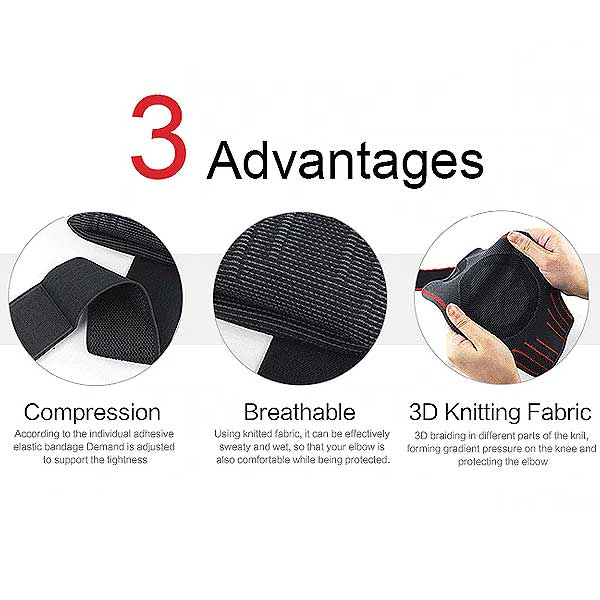 2 Pc Elbow Compression Support Sleeves (1 pair) - Blown Biker - 5