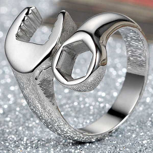 "316L Stainless Steel ""Wrench"" Ring - Blown Biker - 3"