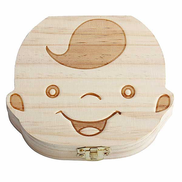 "Wooden ""Baby Tooth"" Storage Box - Blown Biker - 3"