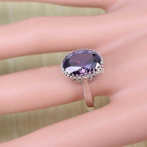 925 Sterling Silver Purple Amethyst Jewelry Set - Blown Biker - 6