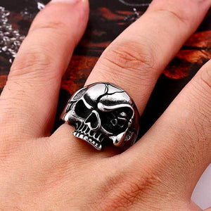 "316L Stainless Steel ""Evil Eye Skull"" Ring - Blown Biker - 1"