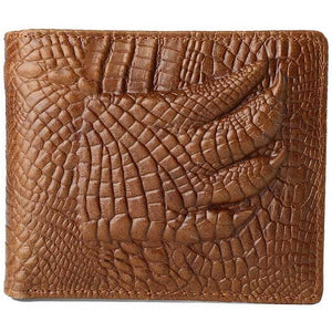 "Leather ""Alligator Claw"" Bifold Wallet - Blown Biker - 1"
