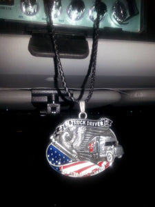 Truck Driver - An American Hero Pendant Necklace - Blown Biker - 7