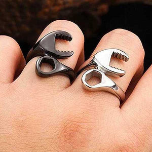 "316L Stainless Steel ""Wrench"" Ring - Blown Biker - 2"