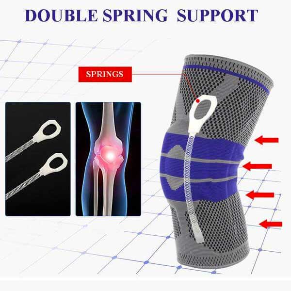 Silicone Compression Knee Support Sleeve - Blown Biker - 7
