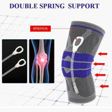 Silicone Compression Knee Support Sleeve - Blown Biker - 3