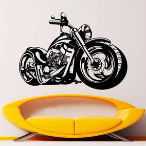 """Fat Boy"" Vinyl Wall Art Sticker - Blown Biker - 1"